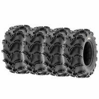 Full Set of Sun.F ATV UTV QUAD SXS Mud Tires (4) 27X9-14  27X9X14  6PR /050