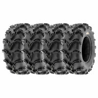 Full Set of New Sun-F ATV UTV QUAD SXS Mud Tires (4) 25X8-12  25X8X12 6PR /050