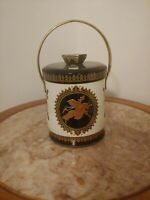 Vintage Murray Allen Tin Canister Imported Made in England Container Crusader