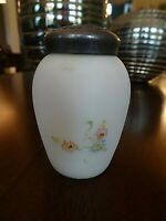 MT. Mount WASHINGTON Glass Hand Painted Salt Shaker Opaque Satin