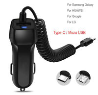 FAST Rapid Car Charger Type C Micro USB Charging For Android Samsung Cell Phone $5.95