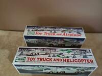 2006 HESS TRUCK & HELICOPTER ~ 2002 HESS TRUCK & AIRPLANE WITH RARE COLOR ~ NIB