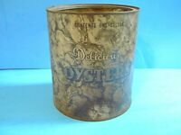 OLD 1 GALLON DELICIOUS OYSTERS TIN CAN