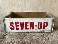 Vintage Wooden Soda Crate Seven Up 7-Up Wood Fresh Up