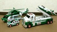 Hess Tow Truck Flatbed Launcher, Airplane & Helicopter w Lights & Sounds 2012/14