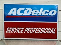 AC DELCO Service Professional Sign Vintage Chevrolet FREE SHIPPING
