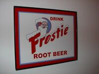 Frostie Root Beer Soda Fountain Diner Kitchen Framed Advertsing Man Cave Sign