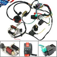 50CC-125CC CDI WIRE HARNESS STATOR ASSEMBLY WIRING KIT FOR ATV ELECTRIC QUAD US