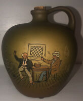 Wellers Pottery Dickensware ii Whiskey Jug Men Toasting In Tavern
