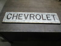Galvanized Chevrolet Sign Chevy Advertising Car Truck Advertising Antique Look