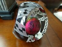 1988 Limited Edition CORREIA Studio Art Glass Paperweight DICHROIC Cameo Faceted