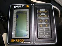 Bench Tested Eagle Z-7200 fish finder LCD display w/mounting bracket