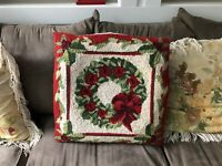 Wool Christmas Pillow Cover 18 X 18