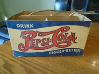 Pepsi Cola double dot 1940's cardboard carrier .