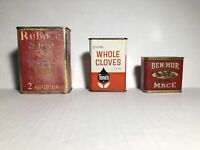Tone's W/Cloves Schilling &Com Sage And Ben-Hur Mace Collectable Tins