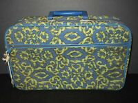 Vintage 60s Soft Shell Suitcase Sleepover Travel Case Child Lock Key JAPAN 16x10