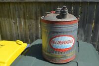 VINTAGE OLD IRONSIDES 5 GALLON GALVANIZED METAL GAS CAN