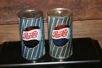 Clean 2 Pepsi Soda Steel flat top cans Bottle Cap Design Different NOT POP TOP