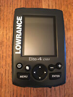 Lowrance Elite 4 DSI color downscan imaging fishfinder + chartplotter GPS