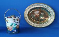 Botanical Floral 13 1 4quot; Oval Daher Tray 5 1 2quot; Murray Allen Tin England