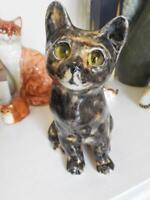 Famous Winstanley Handmade Pottery Tabby Cat Size 3 H22cm - Glass Eyes - England