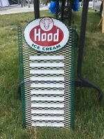VINTAGE HOOD ICE CREAM METAL BADGE MENU BOARD SIGN ELSIE COW