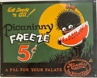 Metal Vintage Tin Sign Decor Authentic -Food Ice-Cream Snacks Theme 11'x9'