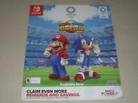 MARIO amp; SONIC AT THE OLYMPIC GAMES NINTENDO SWITCH GAME STORE PROMO SIGN POSTER