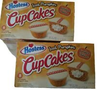 Hostess CupCakes Iced Pumpkin 2 Pack 8 count box 16 cupcakes Limited Edition