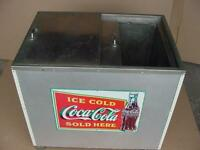 vintage large coca cola ice chest cooler non electric coke restaurant display