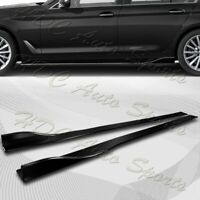 86quot; x 4quot; Universal Painted Black Side Skirt Extension Rocker Splitters Lip 6pcs $59.99