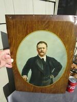 ANTIQUE ORIGINAL 1903 THEODORE ROOSEVELT TIN OVER CARDBOARD SIGN TIN LITHO TOC