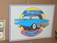 SNAP ON TOOLS 1957 Chevrolet SIGN SHOWS Early CHEVY BEL AIR