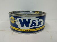 Vintage Sunoco Oil Auto Wax metal can hard to find