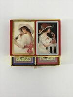 1993 Coca Cola Playing Cards 2 Decks Sealed W Felt Box Of Lady And A Coke Art