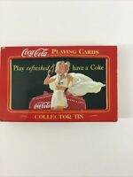 Coca Cola Playing Cards With Collector Tin New 2 Pack Sealed Vintage Ad Girl