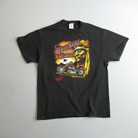 Vintage Brothers of the Wind Biker T Shirt Motorcycle Wheel 2 Thunder L