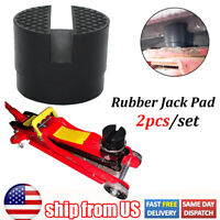 2x Slotted Jack Pad Rubber Universal Support Block Adapter Car Lift Repair Tool $9.67