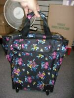 18quot; Rolling Wheeled Duffle Bag Trolley Bag Tote Carry On Luggage Travel Suitcase