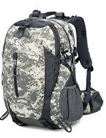 BACKPACK Waterproof Bag Hiking Camping Travel for Men Women 40L Grey By FENGDONG