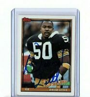 1991 TOPPS VINTAGE CARD SIGNED AUTO DAVID LITTLE STEELERS GREAT