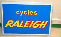 NOS CYCLES RALEIGH SIGN BOARD FOR COLLECTION OR DECORATION LOFT SHOP VINTAGE