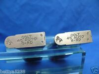 TWO  COLT 45 auto Magazines 1911 8 ROUND 45 CLIP Government Commander Stainless