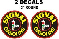 2 Signal Gasoline Decals Great For Gas Oil Cans Dioramas and more Nice