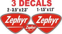 3 Vintage Style Zephyr Gasoline Decals Great for Dioramas Gas Oil Cans