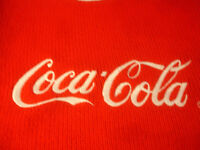 Old Vtg 1980's Coca-Cola Red White Sweater Children Kids Size M10-12 Clothing