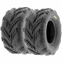 Pair of (2) 16x8-7 16x8x7 ATV UTV All Terrain AT 6 Ply Tires A004 by SunF