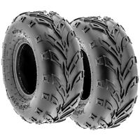 Pair of 2, 145/70-6 145/70x6 Quad ATV All Terrain AT 6 Ply Tires A004 by SunF