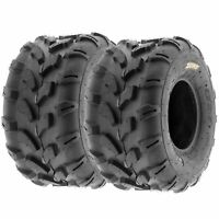 Pair of (2) 19x9.5-8 19x9.5x8 ATV UTV All Terrain AT 6 Ply Tires A003 by SunF