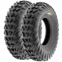 Pair of (2) 20x7-8 20x7x8 ATV All Terrain AT 6 Ply Tires A007 by SunF